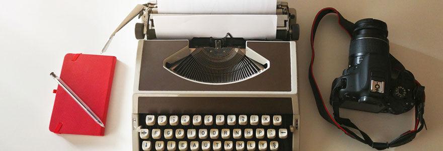 machine à écrire pour faire un carnet de voyage en ligne